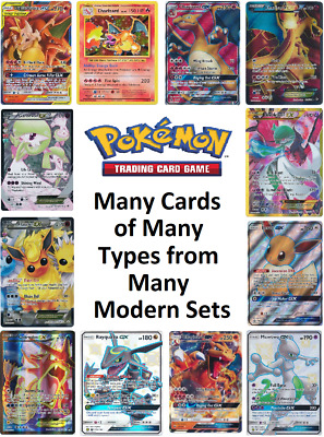 AU20 • Buy Many Modern Pokemon Cards EX GX FA Rev / Holo Near Mint Official English