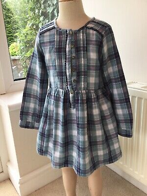 Girls Checked Dress Age 7-8 Ex Cond • 3.50£