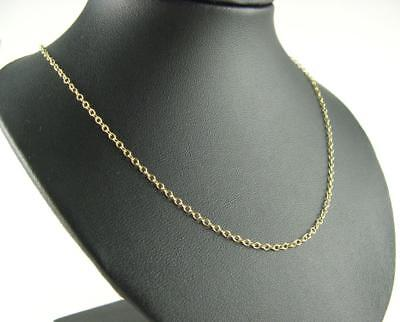 New 9Ct Gold 1.4mm 18 Inch Trace Necklet Chain 1.8 Grams Hallmarked View Photos • 112.58£