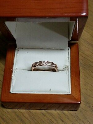 Early Clogau Rose Gold Ring Size P • 125£