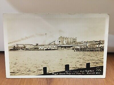 $8.95 • Buy Antique Vintage RPPC Real Photo Post Card 1920s Puget Sound Pulp Mill Everett Wa