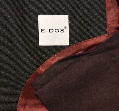 $ CDN14274.14 • Buy NEW $1450 40R Eidos By Isaia Maroon Wine Peak Tuxedo Evening Blazer Jacket