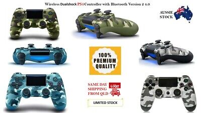 AU54.99 • Buy Black Bluetooth PS4 DualShock  Playstation 4 Wireless Controller  Version 2 QLD