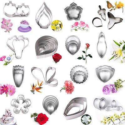 Stainless Steel Flower Leaf Biscuit Cookie Cutter Fondant Cake Decor Mold Tool • 0.99£