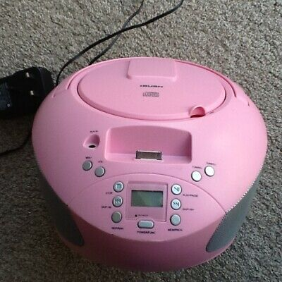 Bush CBB31i Cd & Radio Pink Boombox Includes Built In Docking For Ipod Or Iphone • 16.97£