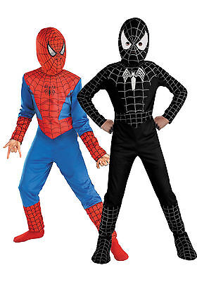 Toddler Kids Spiderman Boys Fancy Dress Up Cosplay Costume Outfits Set • 8.54£