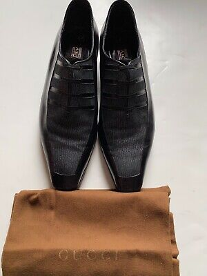 $ CDN173.71 • Buy Men Star Artioli Black Leather Salvatore Loafers Shoes Sz 8 W/ Gucci Shoes Bag