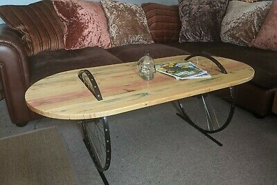 Unique Hand Made Coffe Table With Bike Rims • 200£
