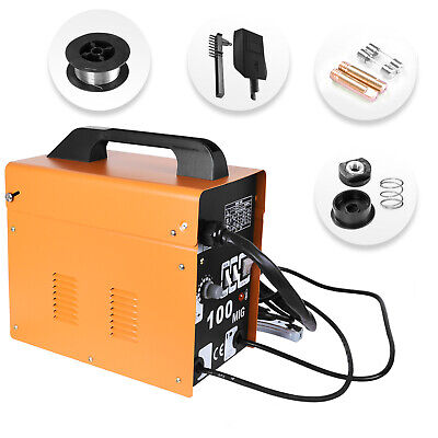New MIG-100 Welder Gas Less Flux Core Wire Automatic Feed Welding Machine 230V • 79.59£