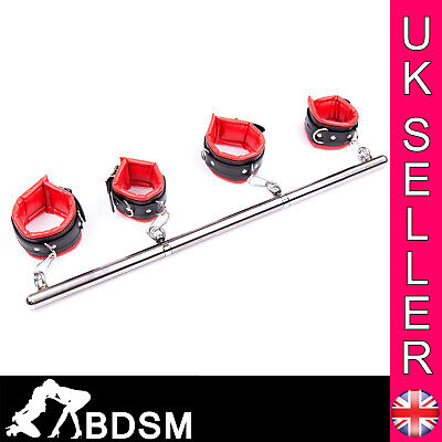 Stainless Steel Spreader Bar Wrist Ankle Cuffs Bondage Restraints Fetish Gift • 29.99£