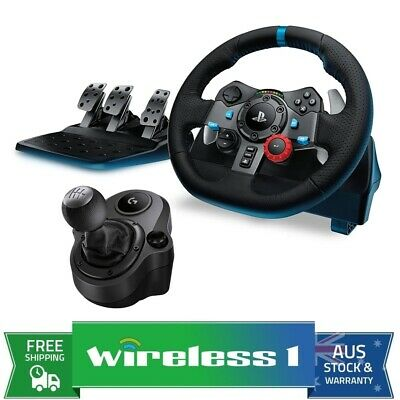 AU461 • Buy Logitech G29 Driving Force Racing Wheel For PS4 / PC + Shifter Bundle