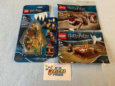AU57.99 • Buy Lego Harry Potter Exclusives Lot Of 3 30407/30420/40419 New/Sealed/Hard To Find