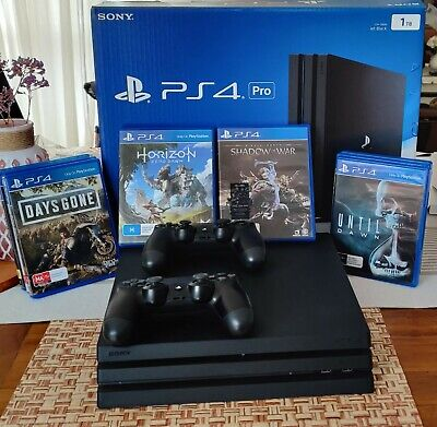 AU370 • Buy Sony PlayStation 4 Pro 2TB Black Console 2 CONTROLLERS And 8 GAMES. PS4 PRO