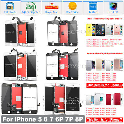 For IPhone 5C 5S 6 6S 7 8 Plus SE LCD Screen Replacement Digitizer Touch Display • 20.79£
