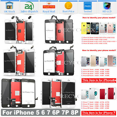 For IPhone 5C 5S 6 6S 7 8 Plus SE LCD Screen Replacement Digitizer Touch Display • 9.99£