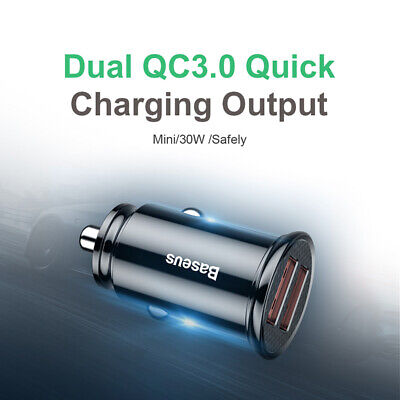 AU14.95 • Buy Baseus QC3.0 Dual USB Car Charger 30W 5A Quick Charge