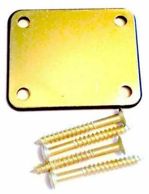 £9.99 • Buy Personalized Gold Chrome Guitar Neck Plate With One Rubber Mat & Screws AA142