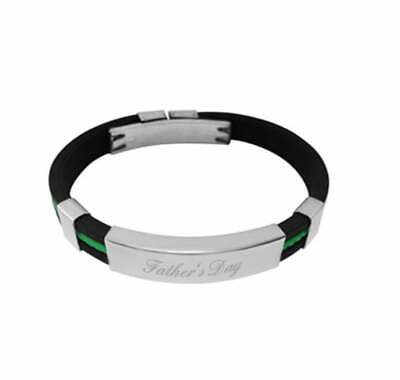 Child Size ID Bracelet Rubber & Engraved Personalised + Gift Box Yd • 11.99£