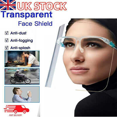 £1.89 • Buy Face Shield Full Face Visor Protection Mask Ppe Shield Clear Plastic Transparent