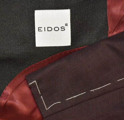 $ CDN348.14 • Buy NEW $1450 40R Eidos By Isaia Maroon Wine Peak Tuxedo Evening Blazer Jacket