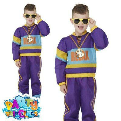 Kids Boys Shell Suit 1980s Costume Frankie Says Relax Music Book Day Fancy Dress • 16.99£