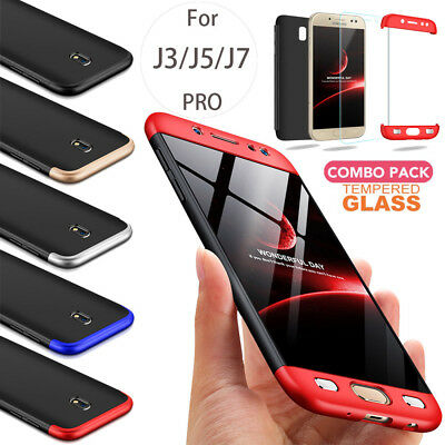 AU9.88 • Buy For Samsung Galaxy J5 J7 PRO Slim Shockproof Case HeavyDuty Cover Tempered Glass