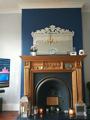 Gorgeous Victorian Style Fireplace Surround With Cast Iron Insert • 100£