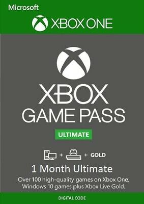 $ CDN4.40 • Buy Game Pass Ultimate + Xbox Live GOLD Key - 1 Month Code - Xbox One - *INSTANT*