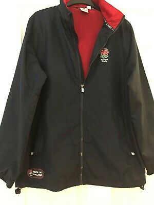 England Rugby LICENSED PRODUCT Dark Navy Lightweight Jacket Size M BNWOT • 18£