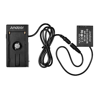 AU27.19 • Buy Andoer NP-W126 Dummy Battery Coupler With Straight Cable + NP-F970 F750 C9B4