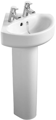 Ideal Standard Concept Arc 45cm 2TH Corner Handrinse Basin Only • 27£