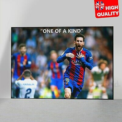 Lionel Messi  One Of A Kind  Poster Football FC Barcelona The Goat | A5 A4 A3 A2 • 3.99£