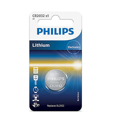 £2.95 • Buy CR2032 Battery 3v Lithium Coin Cell Round Flat DL2032 PHILLIPS UK Car Remote FOB