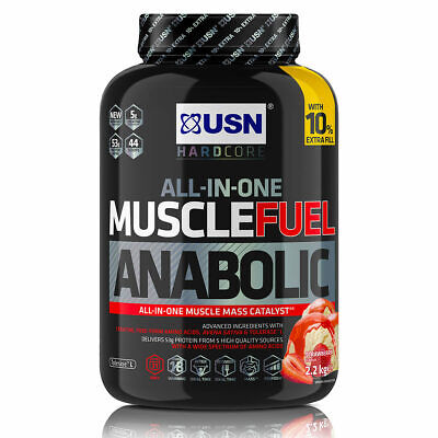USN All In One Muscle Fuel Anabolic Strawberry, Chocolate, Vanilla Advance New   • 29.99£