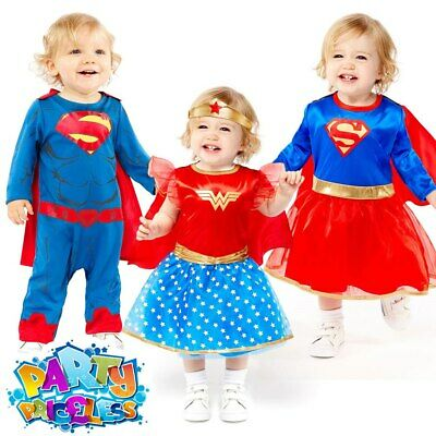 Toddler Super Hero Costume Girls Boys Baby Comic Book Movie Fancy Dress Outfit • 9.99£