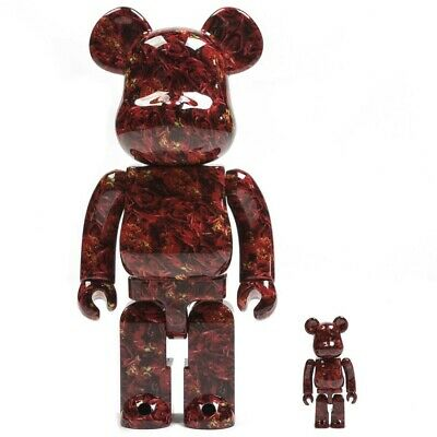 $300 • Buy Medicom BE@RBRICK Mika Ninagawa Leather Rose 100% 400% Bearbrick Figure Set