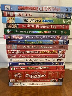 $39.99 • Buy Lot Of 16 Children's Christmas DVDs - Mickey Rudolph Grinch Elf Dora Rankin Bass