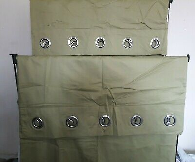 NEXT PALE GREEN EYELET LINED CURTAINS 66  Wide X 90  Long (each) In VGUC • 9.99£