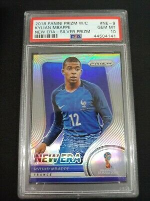 $ CDN2676.40 • Buy 2018 Prizm World Cup Soccer Kylian Mbappe New Era Rookie Silver Prizm Psa 10