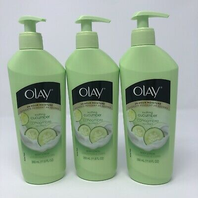 AU44.67 • Buy 3 Pack Olay 24-Hour Moisture Body Lotion Soothing Cucumber 11.8 Ounce Pump Rare