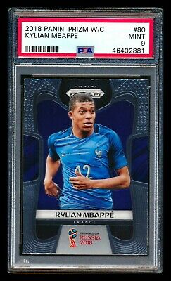 $ CDN270.99 • Buy 2018 Panini Prizm #80 Kylian Mbappe Rc France World Cup Rookie Card Psa 9 Mint!