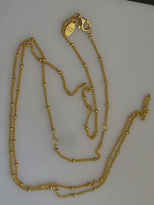 AU89.95 • Buy Authentic Pandora Beaded Gold Plated Chain Necklace 397210-70 Cm