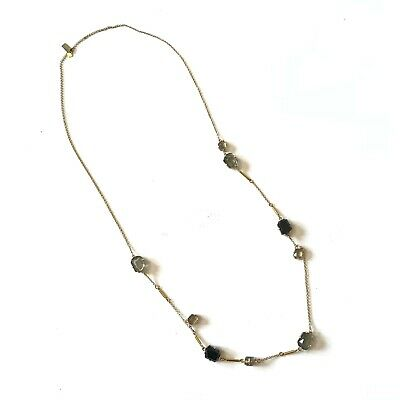 $ CDN69.45 • Buy Kate Spade NY Carinne Station Necklace Gold Beaded Stones Layering Jewelry Black