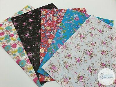 £6.95 • Buy Decopatch Paper, Decoupage Paper FLORAL **5 Full Size** Collection Pack No3