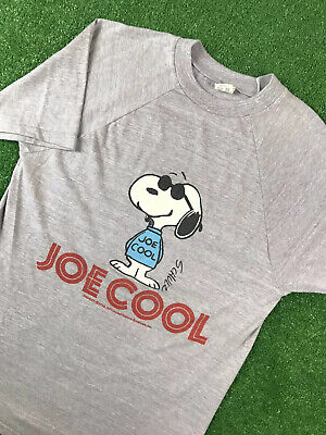 $ CDN60.65 • Buy Vintage T Shirt 70s Joe Cool Snoopy Peanuts 50/50 Thin Deadstock