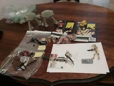 AU9.50 • Buy Large Lot Collectable Star Wars Figures AT-AT,  Clone Troopers, Commtec + More