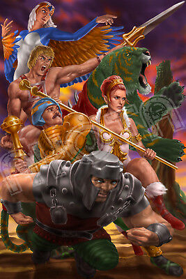 $13 • Buy Masters Of The Universe He-Man, Teela, Sorceress Limited Edition Poster