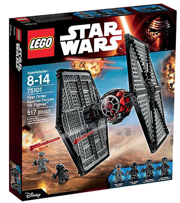 AU150 • Buy Brand New Genuine Lego Star Wars 75101 First Order Special Forces TIE Fighter