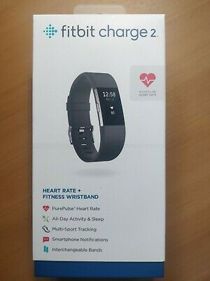 AU49.95 • Buy Fitbit Charge 2 Heart Rate Fitness Tracker Wristband Black FB407BKL Large