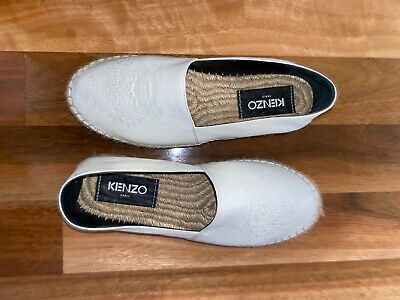 AU21 • Buy Kenzo Women's Leather Espadrille - White - EUR38 - Worn ONCE Only